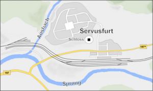 Kaart Servusfurt
