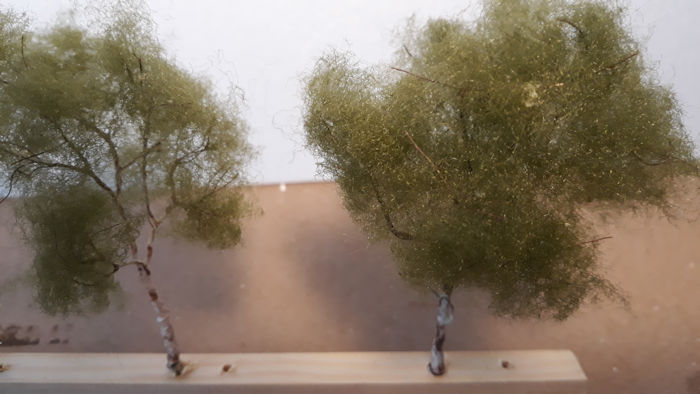 Detail van twee kruinen